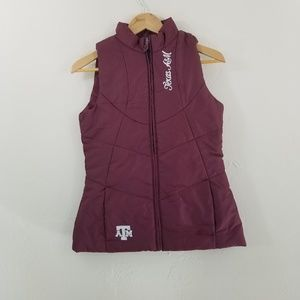Texas H&M Adidas Women's Red Puffer Vest Size S
